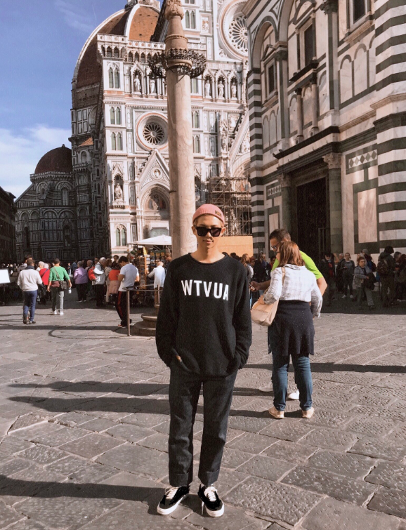 BTS member RM in Italy (Courtesy of Twitter)