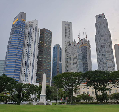 Singapore, one of Asia's financial centers