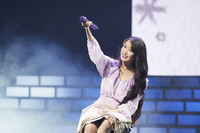 IU was the most-streamed Korean female solo artist on Spotify.