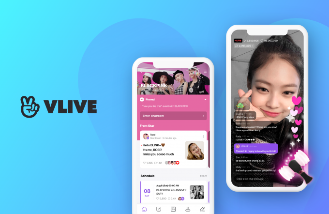 Naver's V Live has become a popular hub for global K-pop fans.