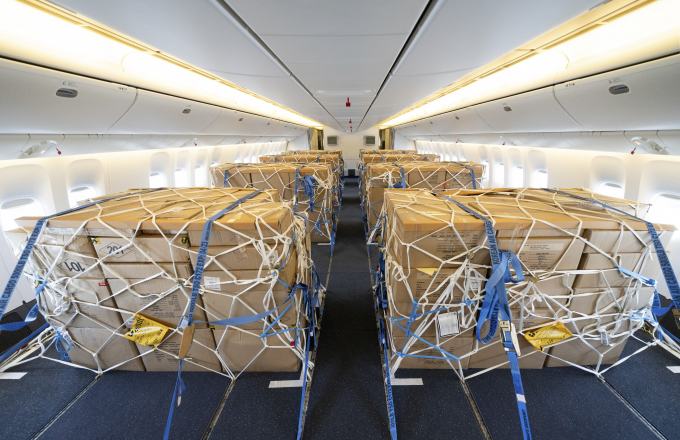 Korean Air converted some of its passenger planes into cargo planes.
