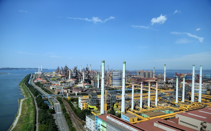 POSCO's steel plant in the city of Pohang