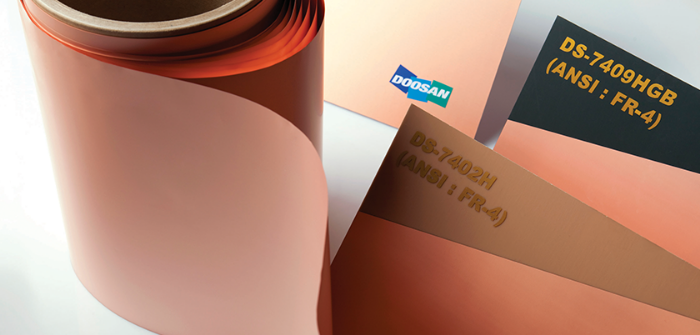 Copper-clad laminates (Courtesy of Doosan Co.)