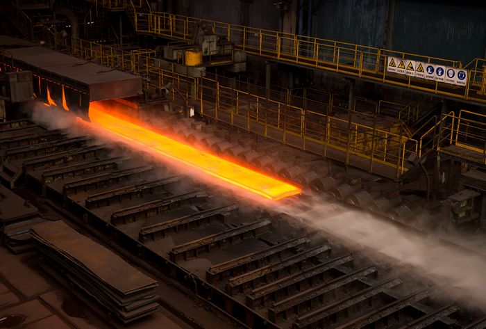Hot-rolled steel plates produced by POSCO.