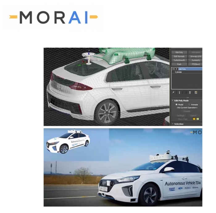 Morai's autonomous vehicle simulation solution (Courtesy of Morai).