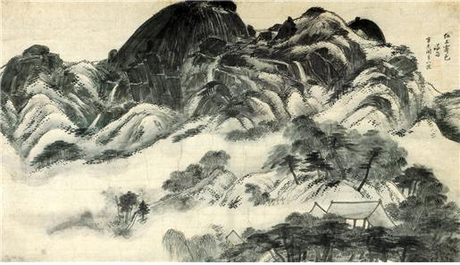 Inwangjesaekdo, a landscape painting by Jeong Seon in 1751, is South Korea's 216th national treasure and included in the art collection donated by the Samsung heirs.