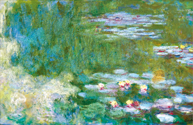 A piece from Claude Monet's (1919-1920) Water Lilies series is included in the art collection donated by the Samsung heirs.