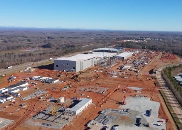 SK Innovation's EV battery plant under construction in Georgia