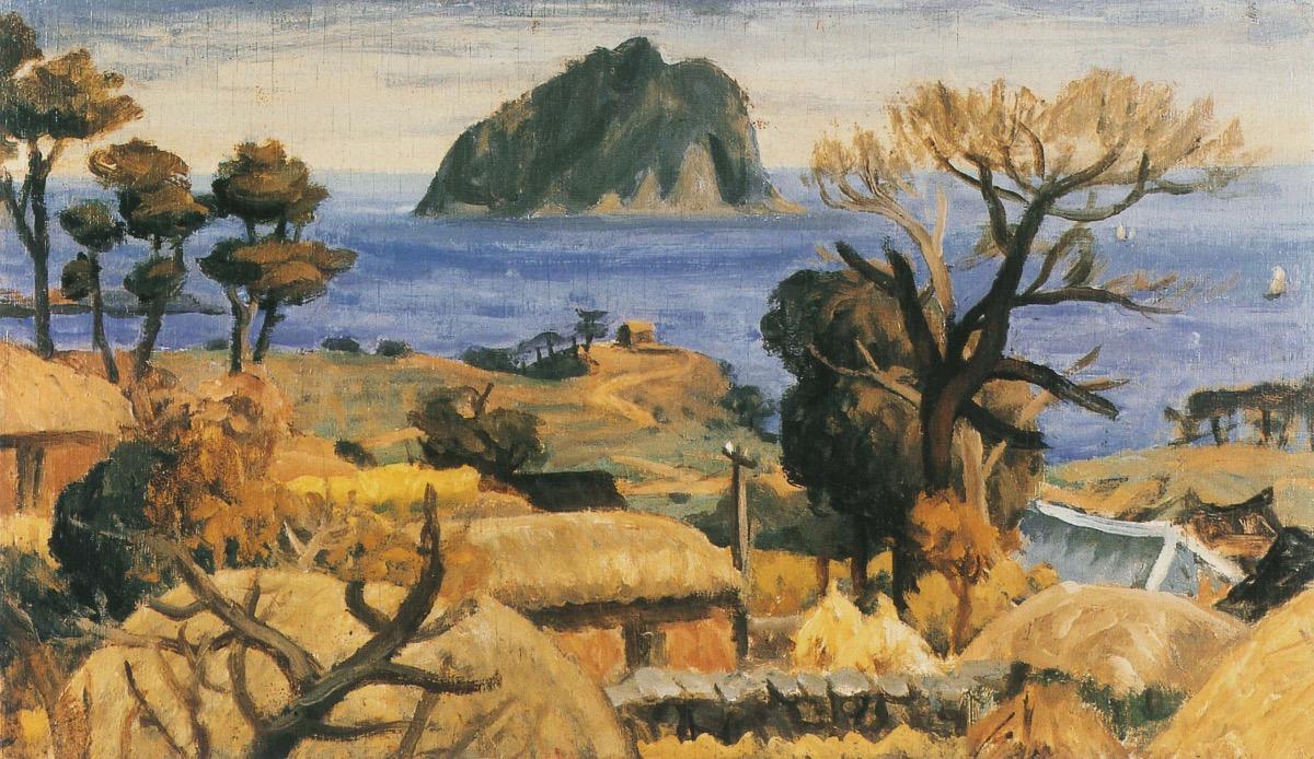 ▲ Korean modern artist Lee Jung-seob's A Scenery of Seopseom Island